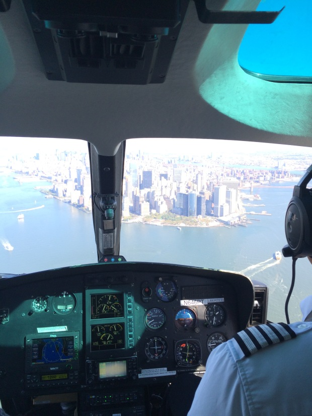 Manhattan from a helicopter's view