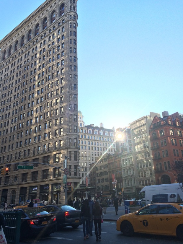 Flatiron Building in the Flatiron District , one of my favorite buildings straight across Madison Square Park