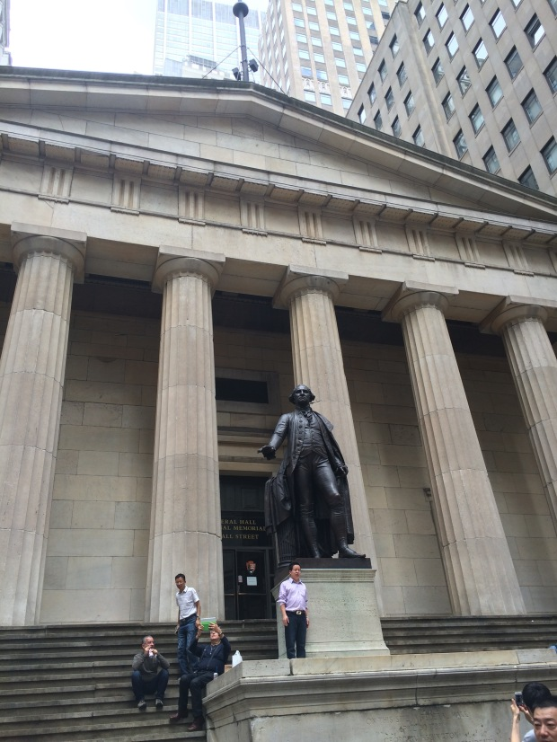 Being an APUSH nerd, I was very excited to see Federall Hall, where President George Washington was inaugurated